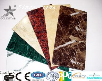 Foshan building material curtain wall decoration marble tile Aluminum composite panel