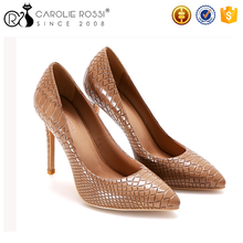 Official site Free samples elegant woman snake sexy shoes 12 inch high heels black ladies office shoes