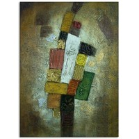 Paint by numbers wall decor modern abstract oil painting with gold frame