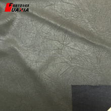 Flocking real flocked fabric pu/pvc synthetic leather fabric