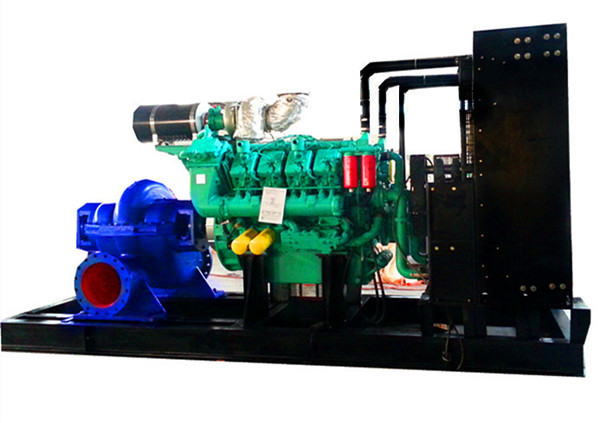 1260RPM Diesel Gas Mixed Dual Fuel Water Pump Generator