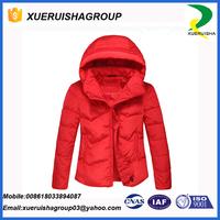 2017 latest waterproof winter short duck down jacket for women