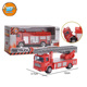 Yibao children small scale frre wheel alloy metal diecast toy fire fighting truck for sale