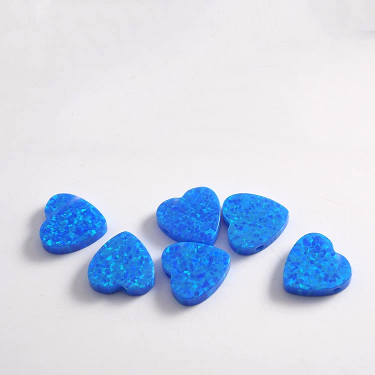 top quality heart shape synthetic blue opal jewelry