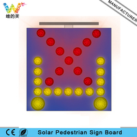 LED Manufacturer Solar Powered Europe Amber Left Right Arrow Red Cross Light Traffic Indicating Sign