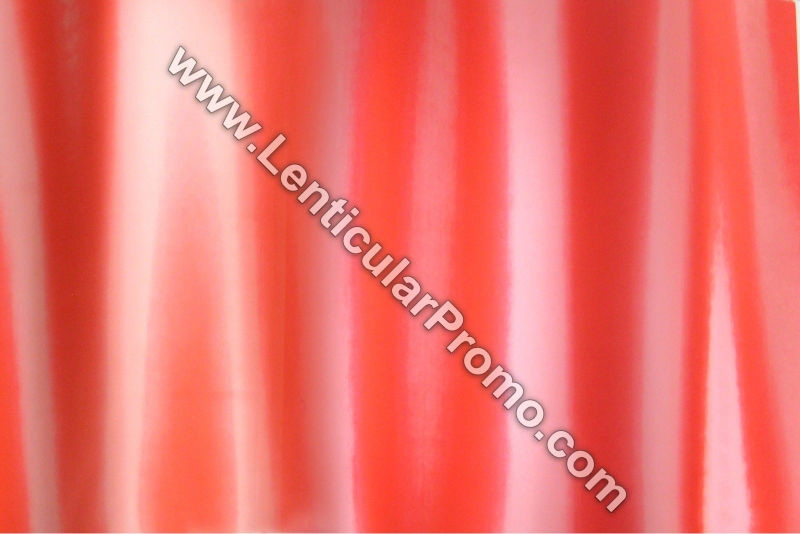 Apparel Color Changing Red White Lenticular 3D Fabric Sheets Custom Fashion Material