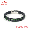 fashionable mens jewelry mexico wristband leather bracelets with clasp