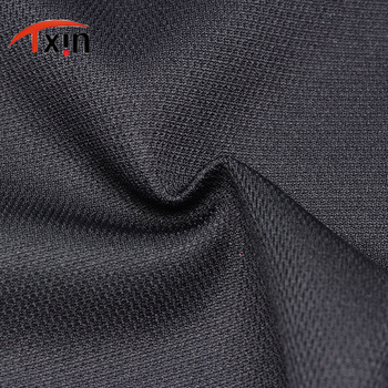 tow sides Tongxin Textile Solid Dyed Black Color Thick Knitted DTY Polyester