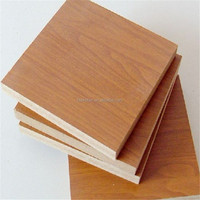 wholesale 3mm walnut wood grain melamine mdf board panel from China manufacturer in sale