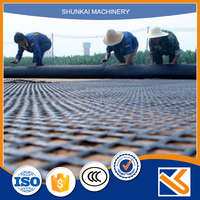 Road reinforcement biaxial plastic geogrid