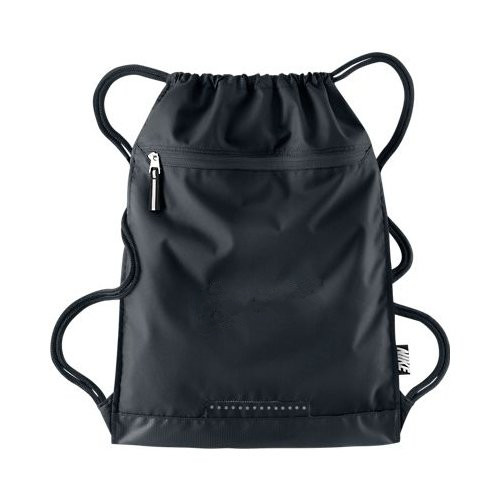 durable Sports zipper backpack 190d polyester drawstring bag