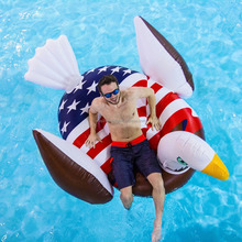 Pool Inflatable Giant Rideable American Bald Eagle Lounger Swimming Lounge Summer PaWater Toys Pool Toys for kids and adults New