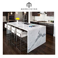 Kitchen attracyived scene Bianco Statuario Venato marble countertop