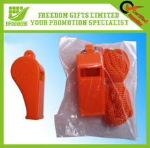 New Wholesale Cheap Cheering Plastic Whistle With Necklace