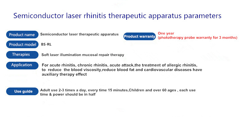 Factory offer nasal type laser treatment to treat rhinitis and nasal polyps