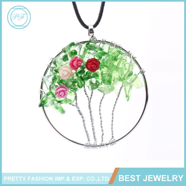 Fashion Jewelry Creative DIY Tree of Life Pendant Necklace Handmade Jewelry