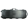 Wholesale 1127x406x155 mm waterproof black heavy duty plastic gun storage box with wheel