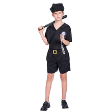 Newest party cosplay party costume kids children boys Police halloween costume uniform outfit