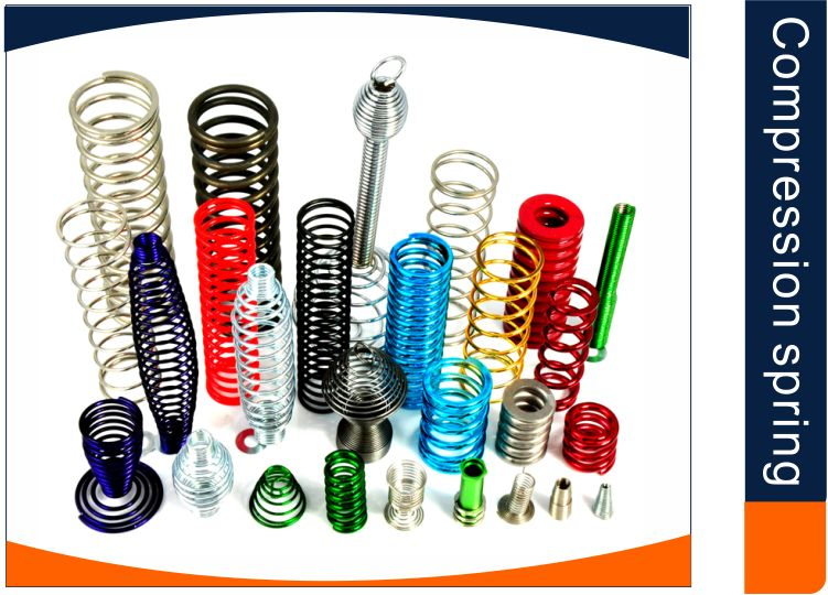 zinc plated compression spring conical compression spring supplier