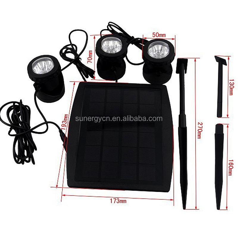 Solar Powered LED Pool Light 18 LED Underwater Lamp Waterproof IP68 Solar Lawn Lamps