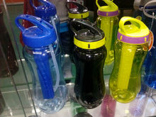 wholesale plastic water bottle with ice cub make in china