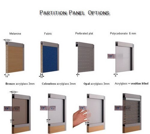 Great design of office high partition wall in aluminium for Muebles oficina wks
