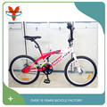 BMX type steel farme and alloy rim Material 20inch fashion bmx bikes bicycle