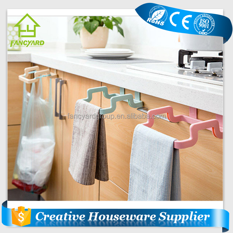 [FREE SHIPPING] Kitchen Duster Cloth Rack Holder Garbage Trash <strong>Waste</strong> Garbage Bag Hanging Rack Holder on Cabinet