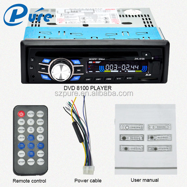 DVD Player LCD Screen Car DVD Single Din DVD Player 12V/24V Voltage SD/MM Card DVD/VCD/CD/MP3/MP4/AVI Player