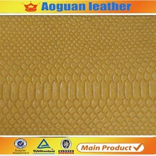 Character beautiful snake skin pu synthetic leather for ladies and men handbag and shoes A1706