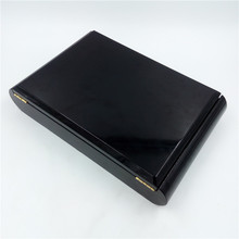 Luxury lacquer MDF storage box with 7 golden hinges