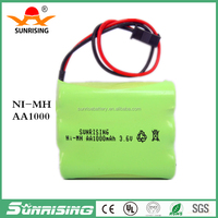 AA NI-MH Rechargeable Battery Pack 3.6V 1000mAh
