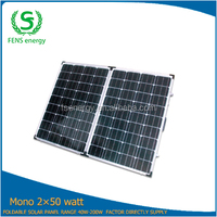 100W 18V foldable solar panel kit, solar panel mount rack for camper,caravan,boat,marine