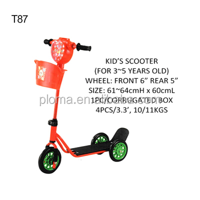 T87 Kids pedal scooter for 3 to 5 years old