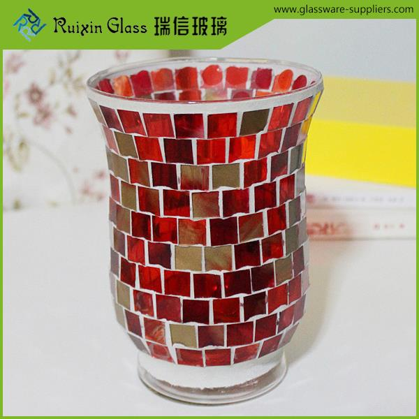 Factory price home decoration candle holder,heat resistant borosilicate glass candle holder for upscale hotel