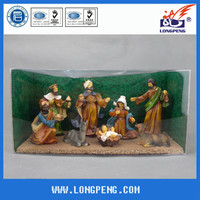 Polyresin Christmas Nativity Scene,Resin Nativity Set Figurines with PVC Packing
