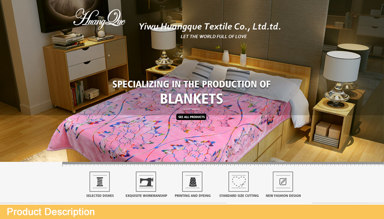 100% polyester ultra soft and smooth printed flannel fleece blanket well soft fleece for wholesale throw blanket