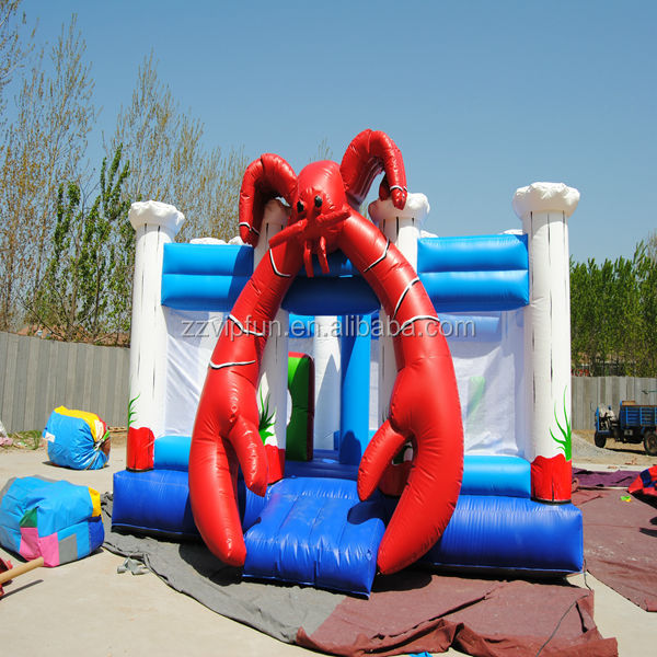 Hot sale commercial grade castle combo bounce house with slide