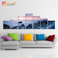 Fantasy 7 pieces frameless canvas art oil painting