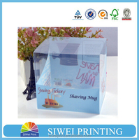 2015 Newest clear PVC Box, PET box, PP box with logo printing for electronic products packaging