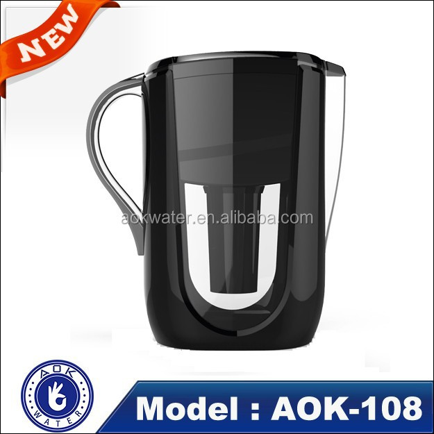 Portable alkaine drinking water filter pitcher 3.5L, 10 cup