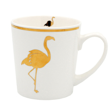 Zogift novelty goods from china assorted colors flamingo white ceramic coffee cup