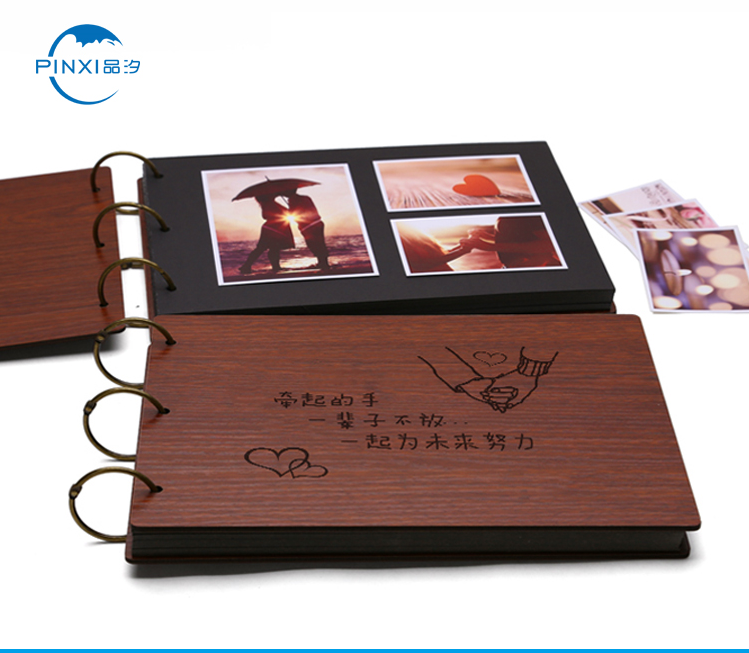 China 8 inch wooden baby photo album wedding photo album for sale