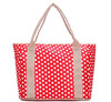Polka Dots Red Microfiber Shoulder Baby Diaper Bag