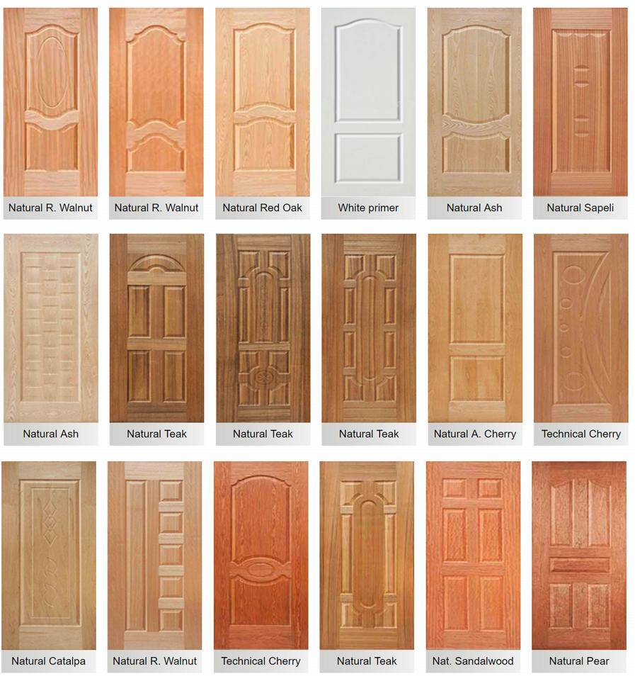 Wood Veneer HDF Moulded Door Skin Price White Wooden Door View