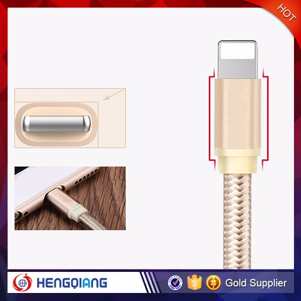 Factory direct price usb 2.0 data link cable, data usb cable Metal and PET+Nylon braided Material for iphone 6 6plus