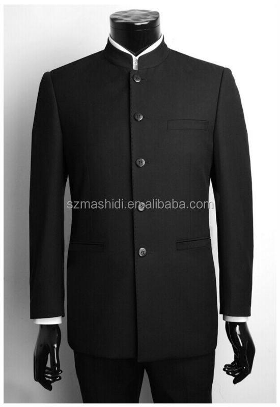 classic design chinese collar suit of standing collar men traditional chinese suit