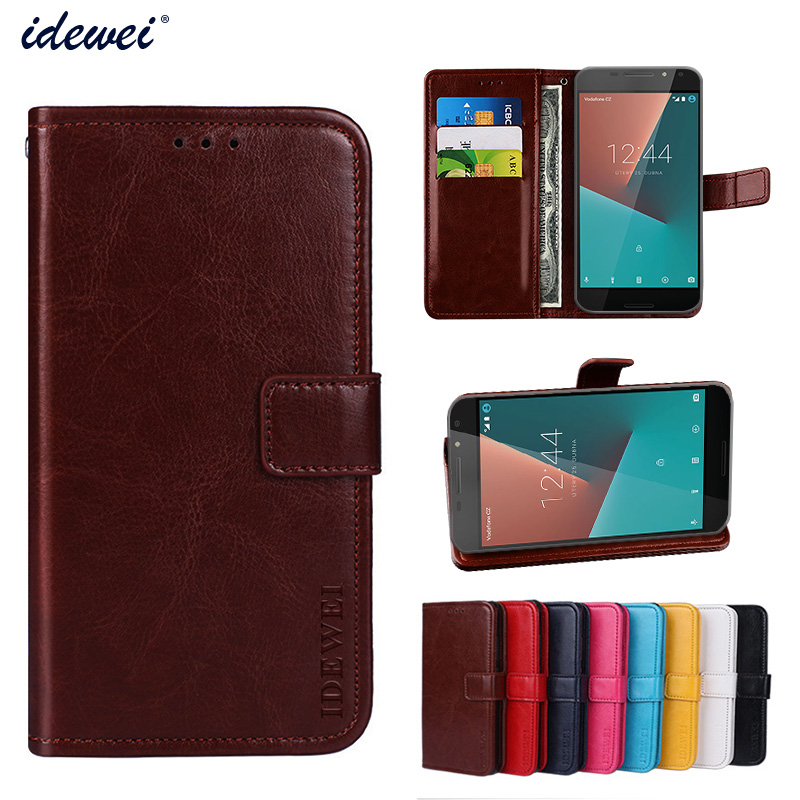 Luxury Flip PU Leather Wallet Mobile phone Cover Case For Vodafone Smart N8 with Card Holder