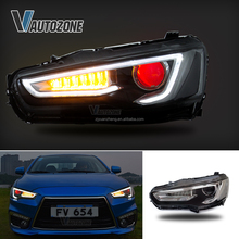 LED DRL Mitsubishi Lancer EVO x 2014-UP Headlights Demon Eyes Front Lamp Assembly