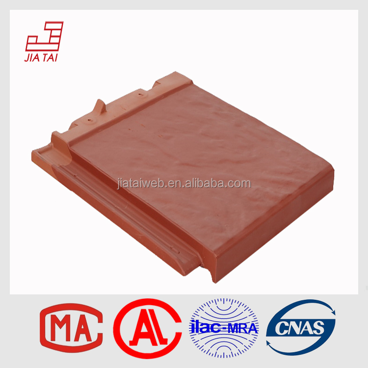 Red Rot-proof architectural roofing material flat clay tiles